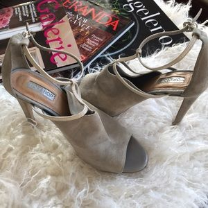 TopShop Powder Blue Lilac Suede Patent Heels Spain